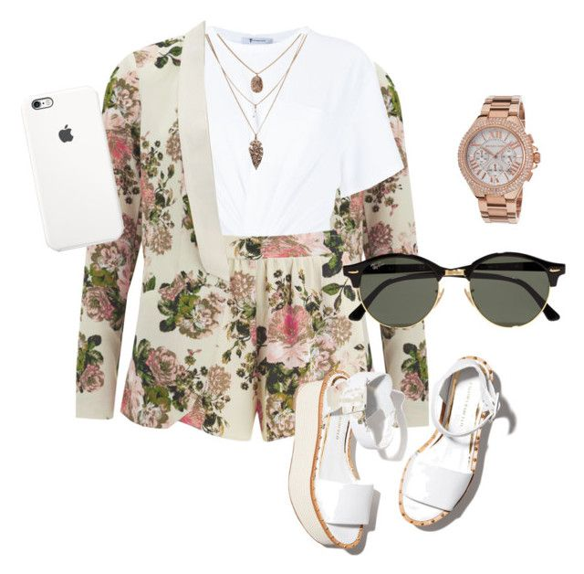 """""""Untitled #13"""" by lovableln on Polyvore featuring VILA, T By Alexander Wang, Paloma Barceló, Ray-Ban and Michael Kors"""