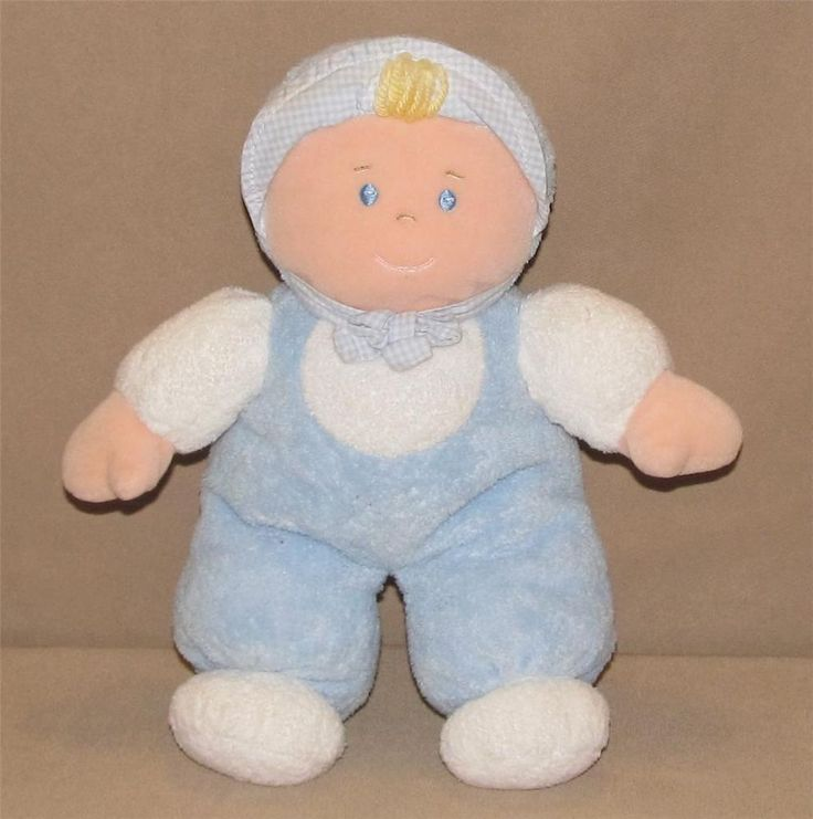 Boys Plush Toys : Quot moonbeams blue baby boy blond plush doll soft terry