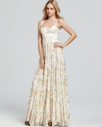 Alice   Olivia Maxi Dress - Bustier Flare Pleat  Bloomingdale's