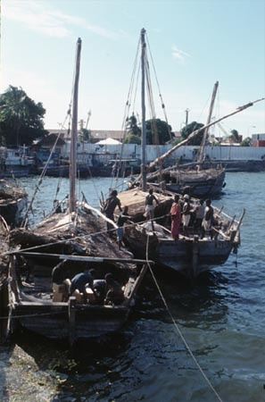 Dhows decked together