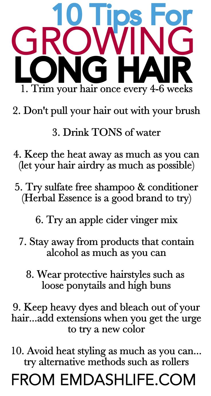 10 Tips For Growing Long Hair - not that i need my hair to grow any longer anyways