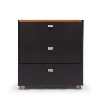 Decotique - Köp Loft Byrå TE3, Svart/Läder Beige online på Roomly.se