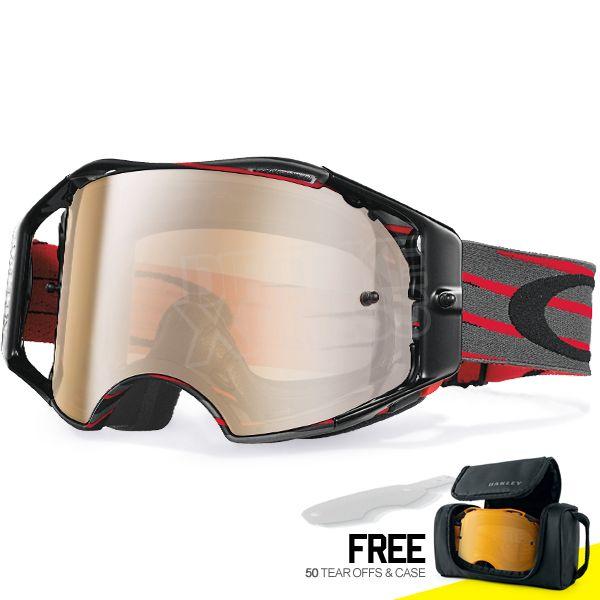 Oakley Airbrake MX Goggles - Nemesis Red Gunmetal Black Iridium