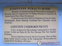 aydıntepe-yer altı şehri