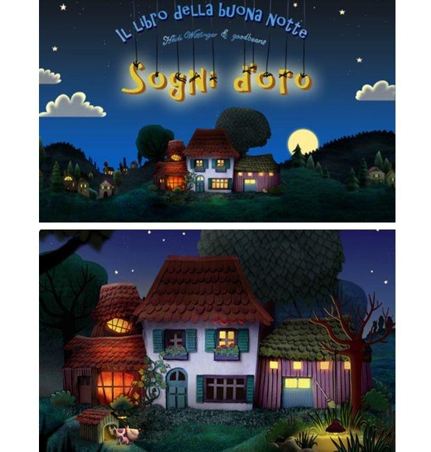 Il rituale della #buonanotte diventa smart con #SognidoroHD per #iPad. Spegni le luci della fattoria insieme ai tuoi bambini e preparali a un piacevole sonno ristoratore, grazie a questo libro interattivo illustrato con splendide immagini.