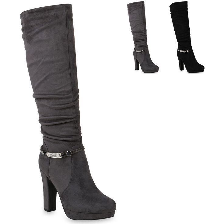 Dames Laarzen Hoge hakken Platform Laarzen Schoenen 895803 Trendy Nieuw Laarzen …