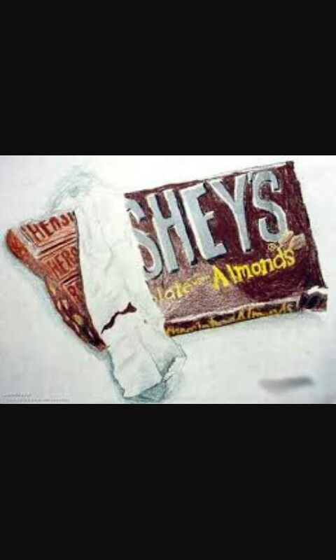 Drawing of a Hersheys Bar  (with almonds)