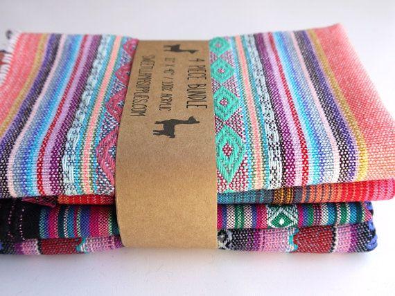 Aztec Fabric Peruvian Fabric Woven Tribal by sweetllamasupplies, $24.00