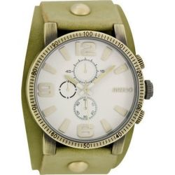 OOZOO Timepieces Olive Leather Strap C6475