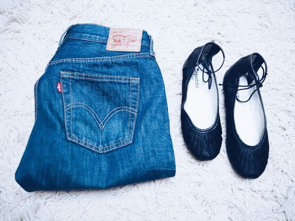 Denim style: Levi's 501s and Repetto flats are my perfect pairing #cartonmagazine