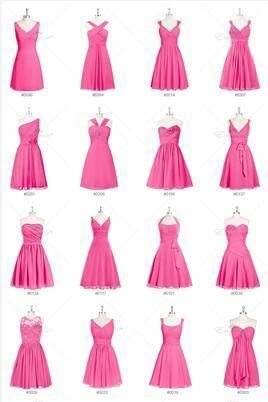 980c4cbc6cda Chiffon Mismatched Bridesmaid Dress Short Wedding Party Gowns in ...