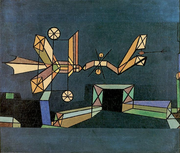 Paul Klee, Arrival of the Air Dragon, 1929, oil on board, 49cm×35cm, Private Collection.