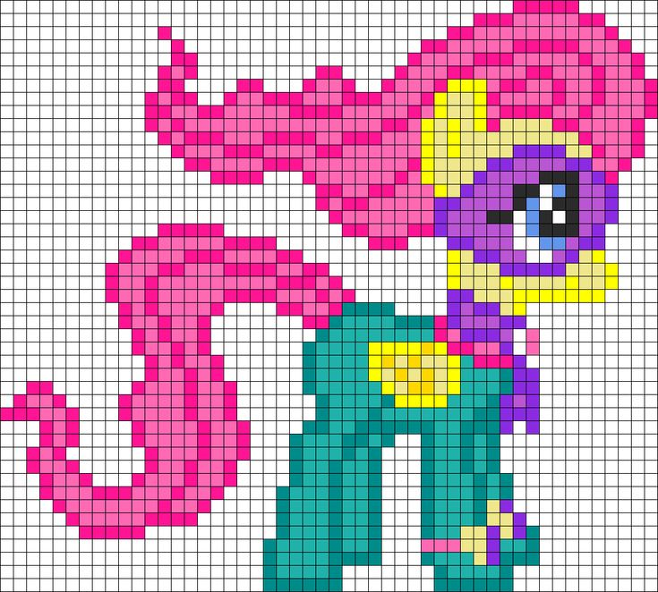 MLP Fluttershy as Saddle Ranger perler bead pattern
