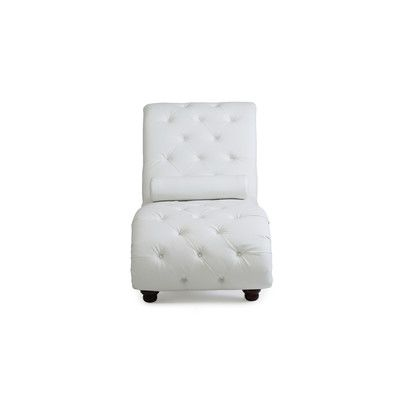 Renhold Chaise Lounge Upholstery: White - http://delanico.com/chaise-lounges/renhold-chaise-lounge-upholstery-white-725809749/