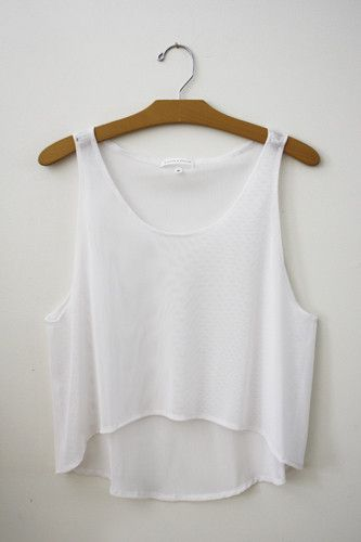 White Crop Top - Hipster Tops