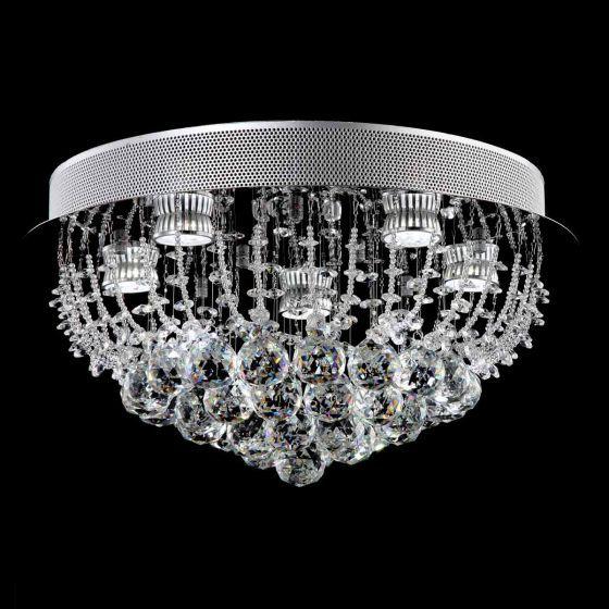 Lampada Accuto Chrome 5 Light LED Premium Crystal CTC Light