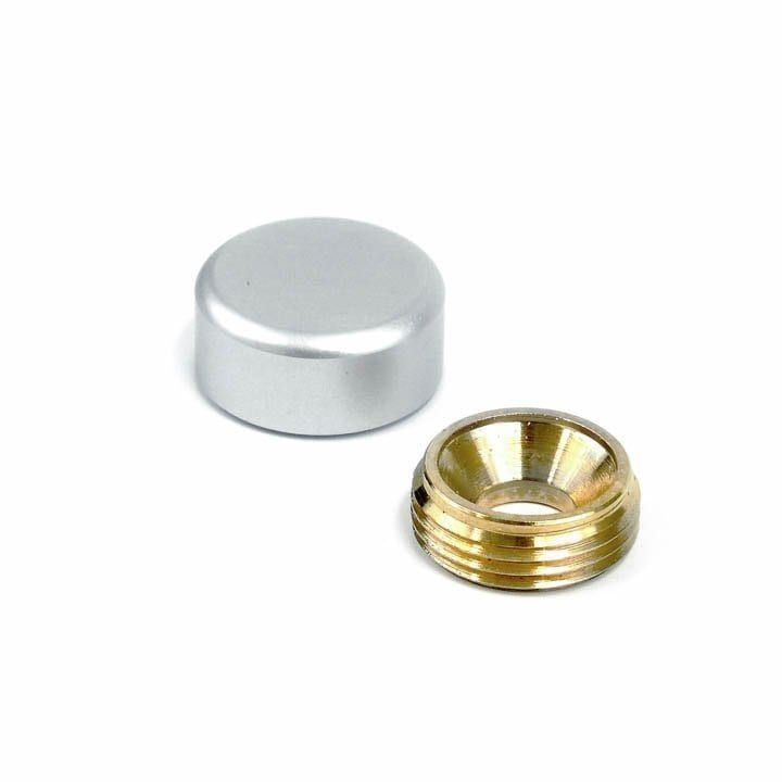 5 8 Dia Sign Screw Cap W Round Edge Satin Anodized Aluminum Screw Caps Anodized Decorative Cover