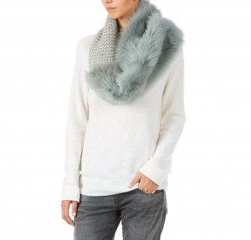 Gushlow and Cole - Hand Knit Shrug - Celadon Shearling Toscana Merino Wool