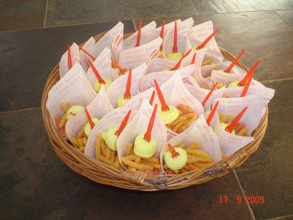 Patatje met (nibbits en geel spekje)