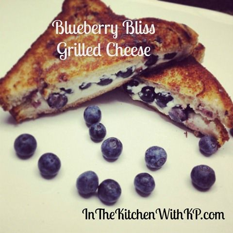 Blueberry Cream Cheese Grilled Sammies