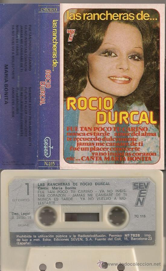 LAS RANCHERAS DE...ROCIO DURCAL (CASSETTE 1978) MANOLO GARCIA · SEVEN (Música - Casetes)