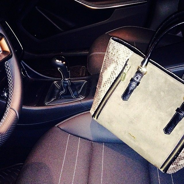 Give your bag a ride! #AW14 #NewCollection #Suede #Nude #Black #Leather #Bag #Reptile #Zippers #Combination | Instagram: @pruneoficial