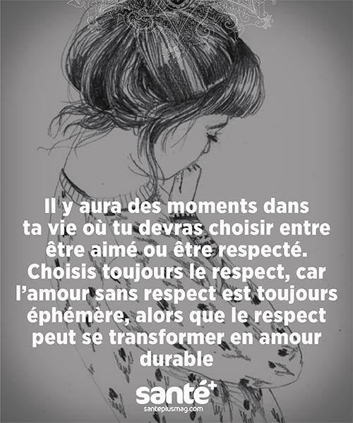 Respect et amour