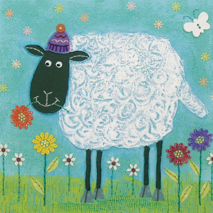 динамичная овцы рисунок красками прекрасно подходила только