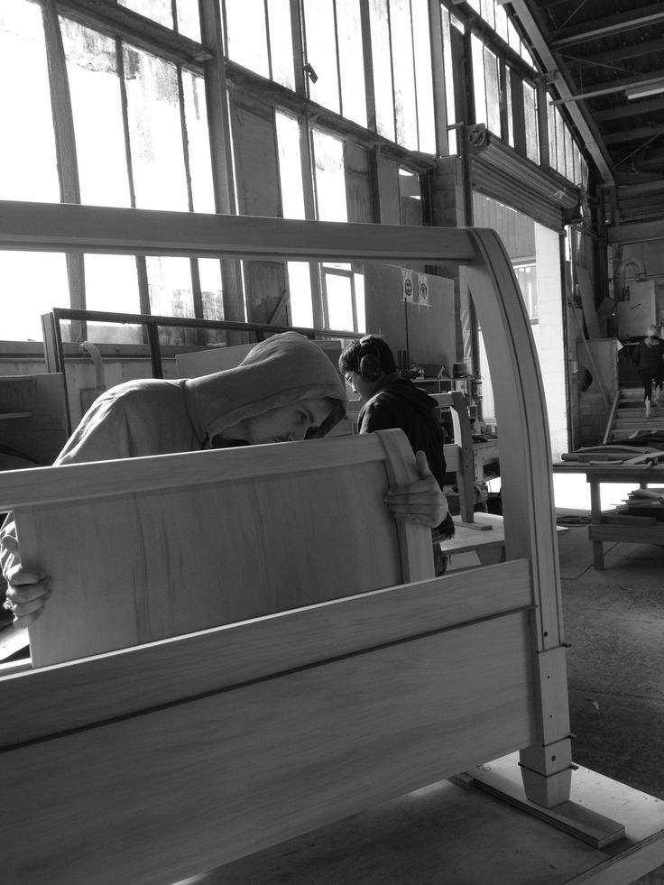 Constructing a Bed end with vertical jarrah inlay work from our Trenail Range