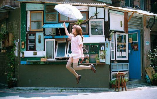 创意漂浮照,爱上无重感的美好