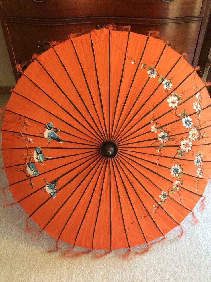 Vintage Asian Umbrella Parasol Japanese Umbrella