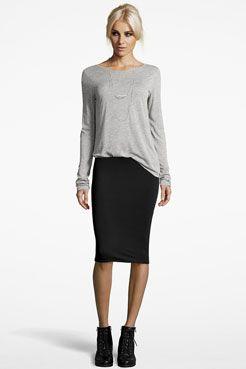 Lexi Midi Jersey Tube Skirt