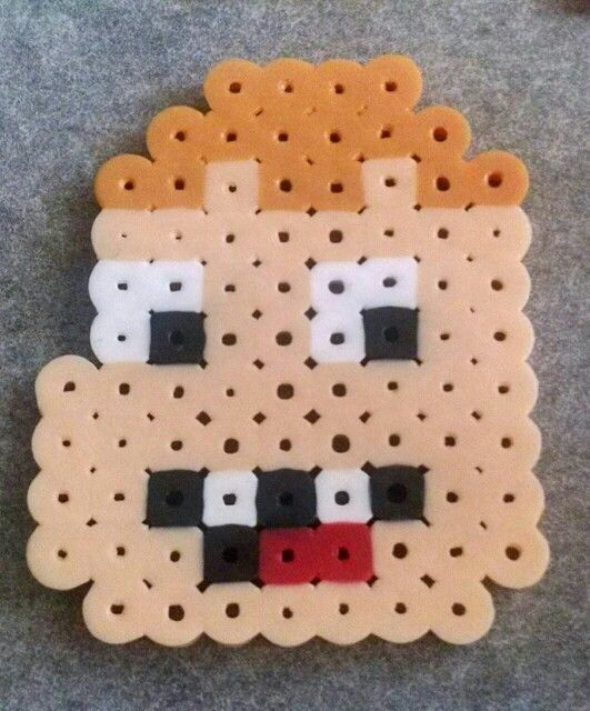 Clarence, Cartoon network, pixel, perler, hama beads...primer diseño!!
