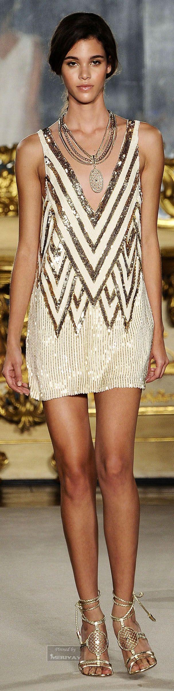 Elisabetta Franchi white & gold sleeveless dress Holiday Christmas Style #UNIQUE_WOMENS_FASHION