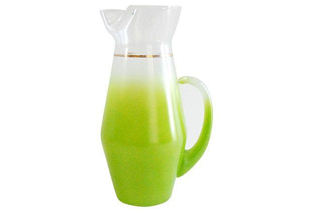 Chartreuse Midcentury Pitcher on OneKingsLane.com