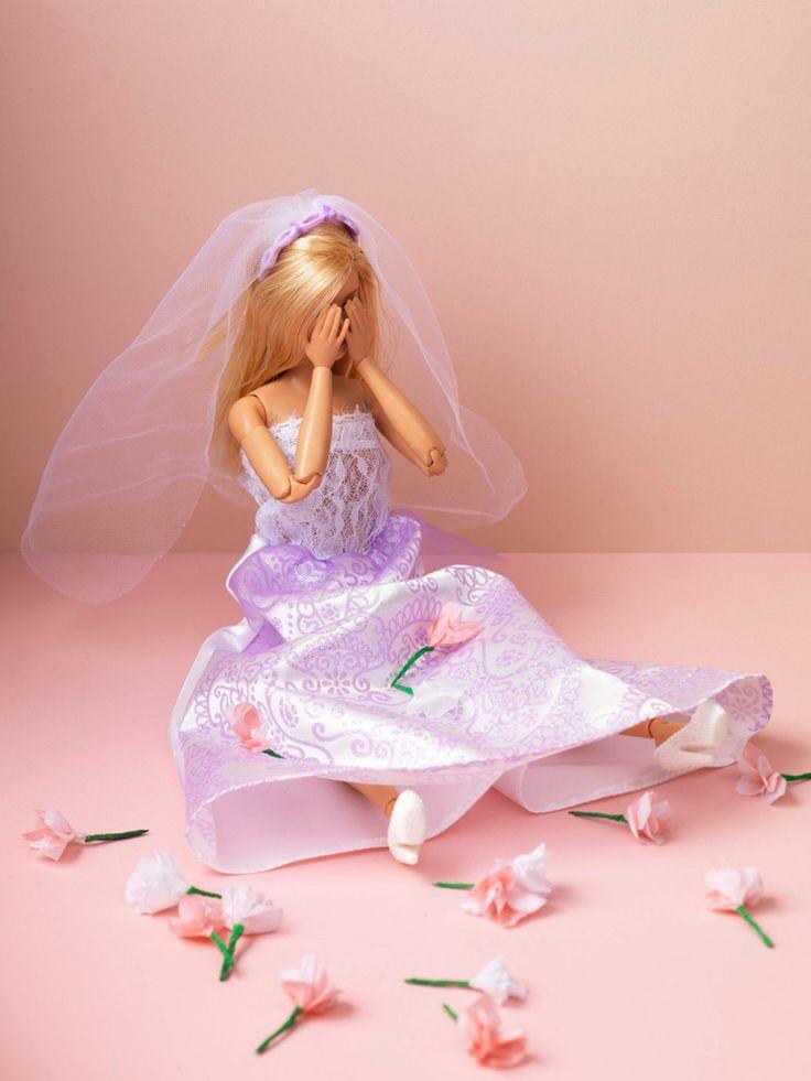 Human interest in JAN Magazine Photography by Frank Brandwijk | 'Barbie Bride Crying' 'Run a Way Groom' 'Photo Illustration' 'Fun'