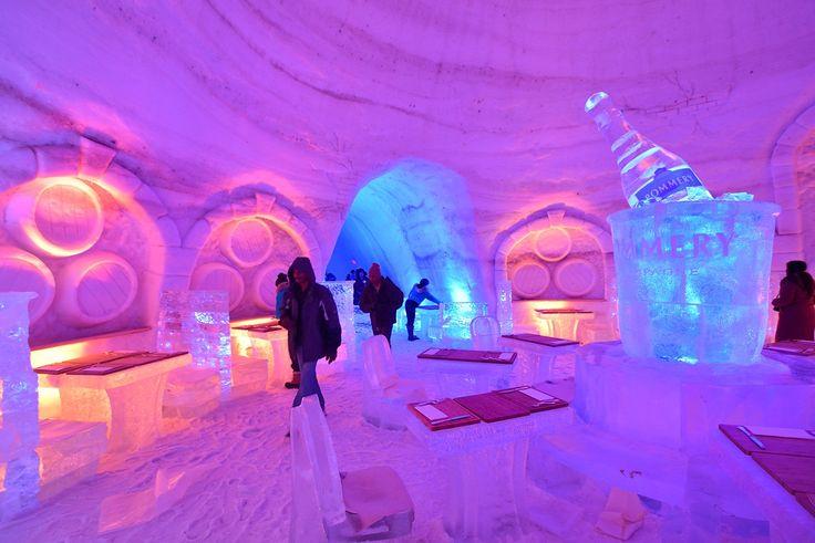 Hotel di ghiaccio snow village, Canada