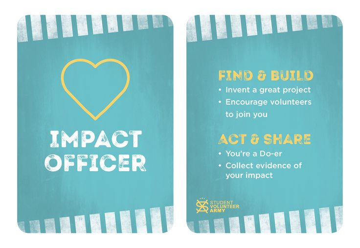 Project Team Role - Impact Officer