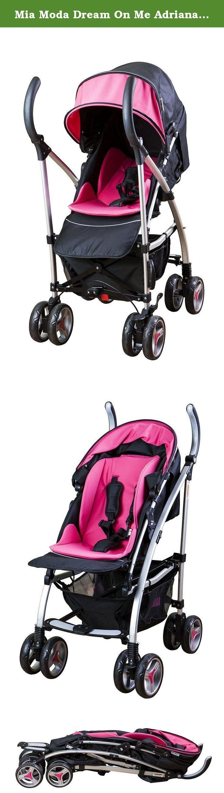 Mia Moda Dream On Me Adriana Reversible Seat Stroller Pink