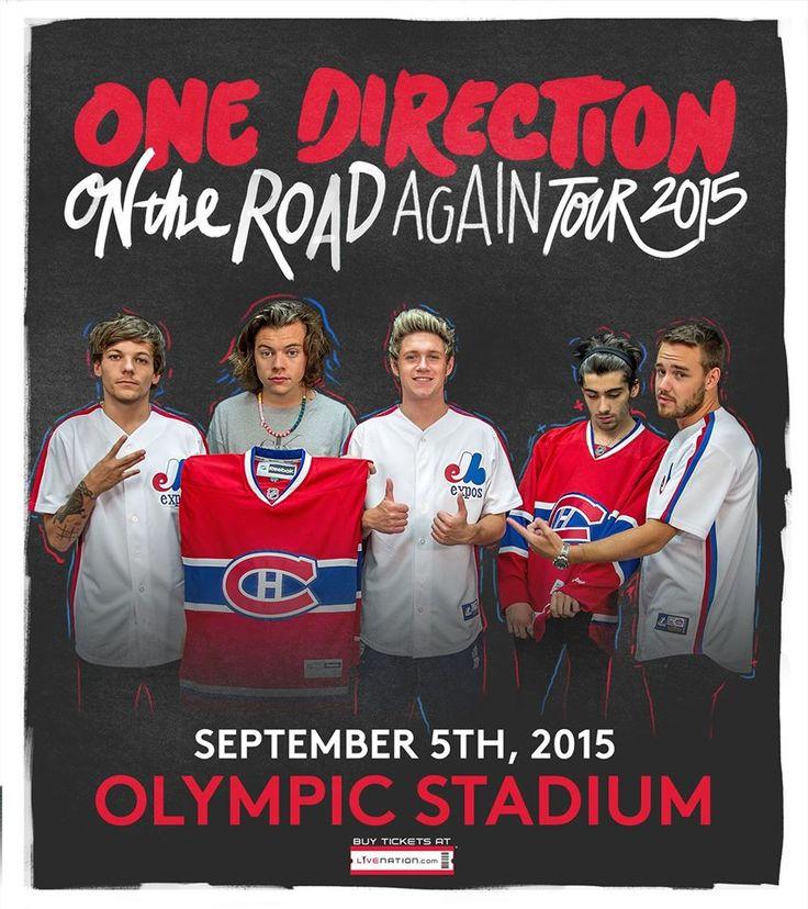 One Direction au Stade Olympique le 5 septembre 2015