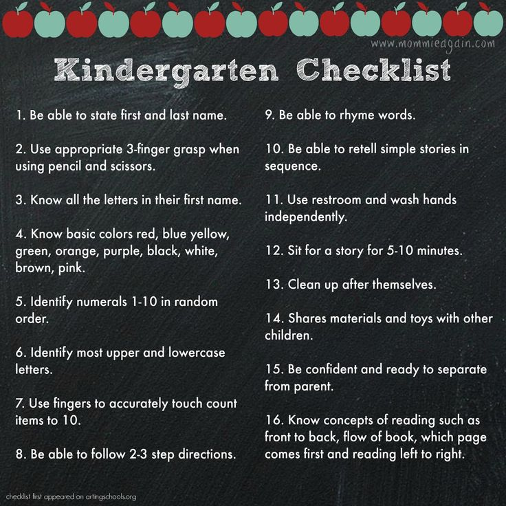 Prepare your child for Kindergarten with this checklist