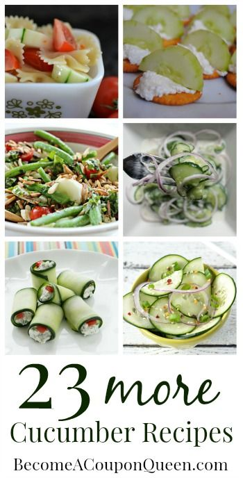 Looking for way to use up cucumbers? Like cucumbers but want to try a new recipe? I have 23 more cucumber recipes for you today!