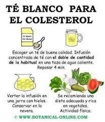 Té blanco para combatir el colesterol.