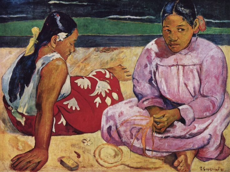 Paul Gauguin ~ Tahitiaanse vrouwen op het strand ~ 1891 ~ Olieverf op doek ~ 69 x 91 cm. ~ Musée d'Orsay, Parijs