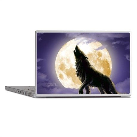 Howling Wolf Laptop Skins on CafePress.com