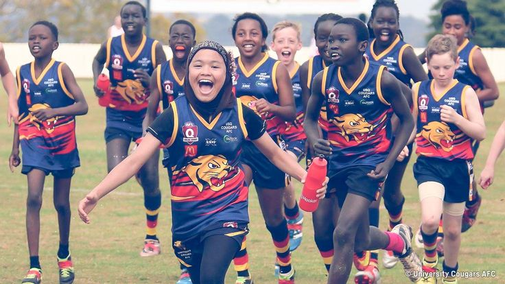 A new AFL coaching program has been created to help young refugees feel more connected to their community. It's already been hailed a success by AFL representatives and community leaders. But one amazing young girl sees it as more than just fun. She sees it as her ticket to the big time.