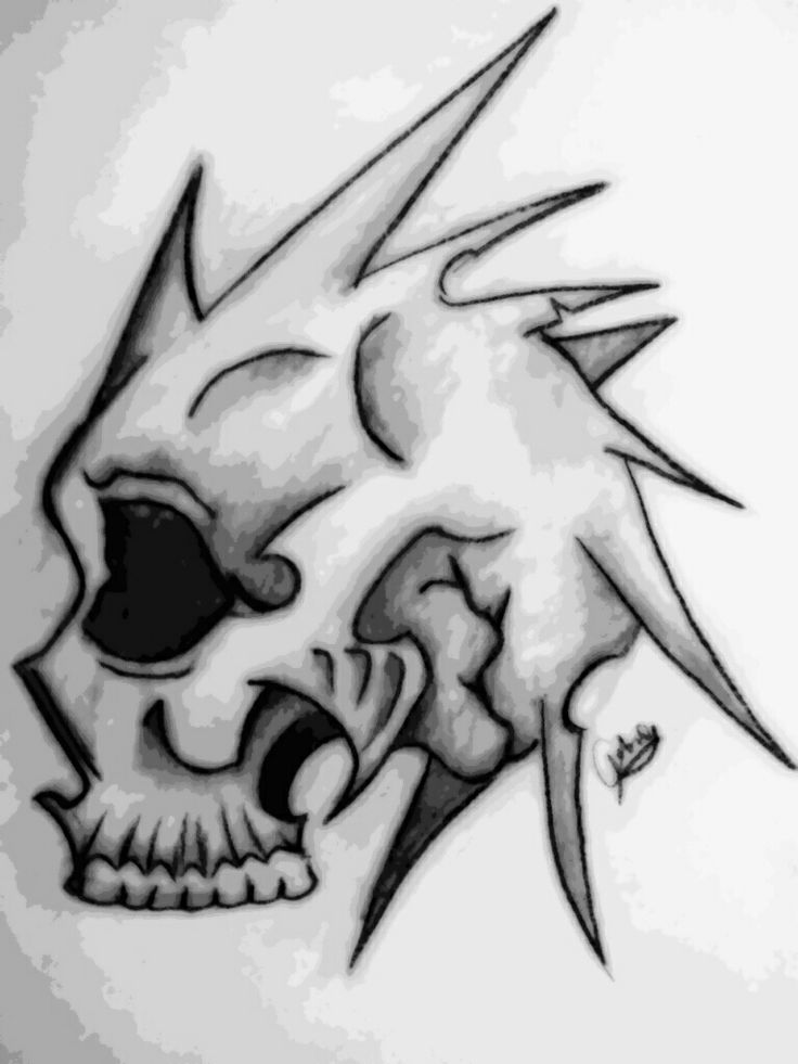 Cool Skull Drawings Creative Commons Attribution Noncommercial No Derivative Works 3 0