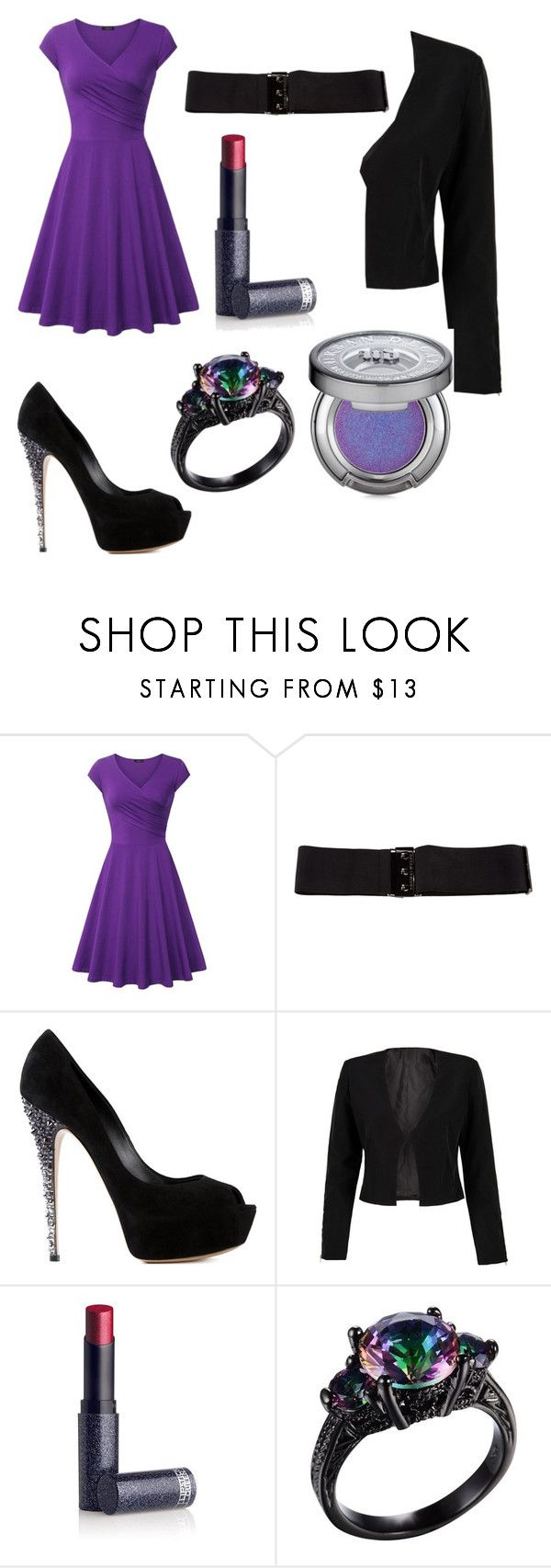 """""""business meeting"""" by musicallovemagic ❤ liked on Polyvore featuring Thomas Wylde, Casadei, WithChic, Lipstick Queen and Urban Decay"""