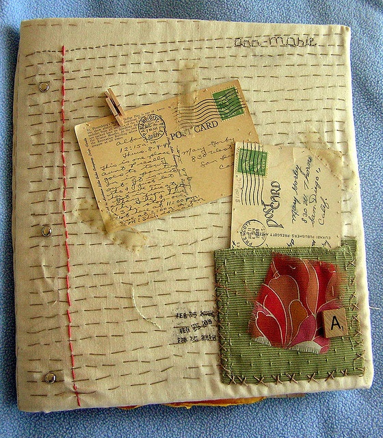 textile design scrapbook by Ann-Marie Loves Paper, via Flickr  idea for book cover...