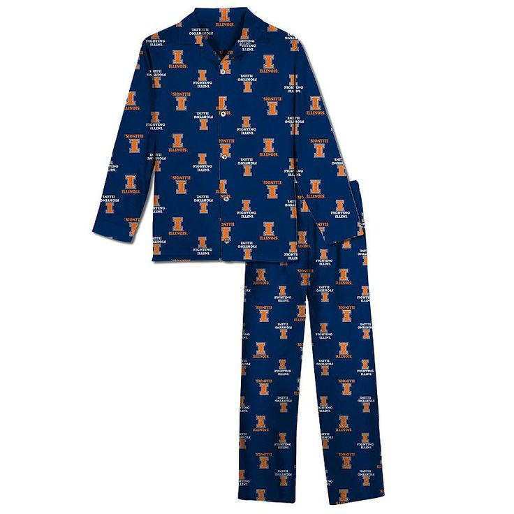 Illinois Fighting Illini Pajama Set - Boys 8-20, Boy's, Size: Medium, Blue